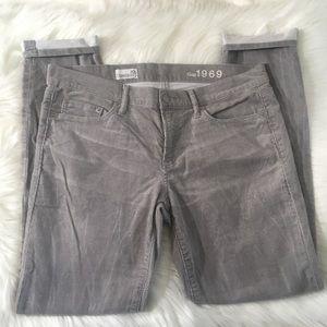GAP 30 always skinny gray grey corduroy pants cord
